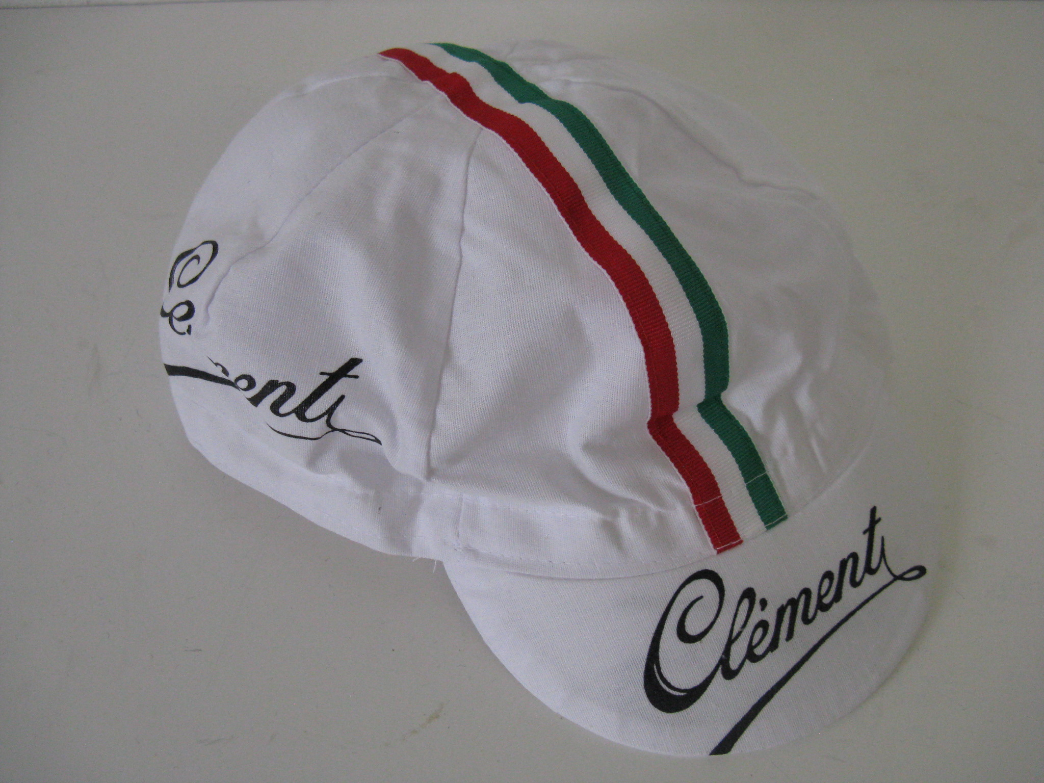 Clement Cycling Cap - made around 1980 white - really nice - label has a  bonus! ca9d89893