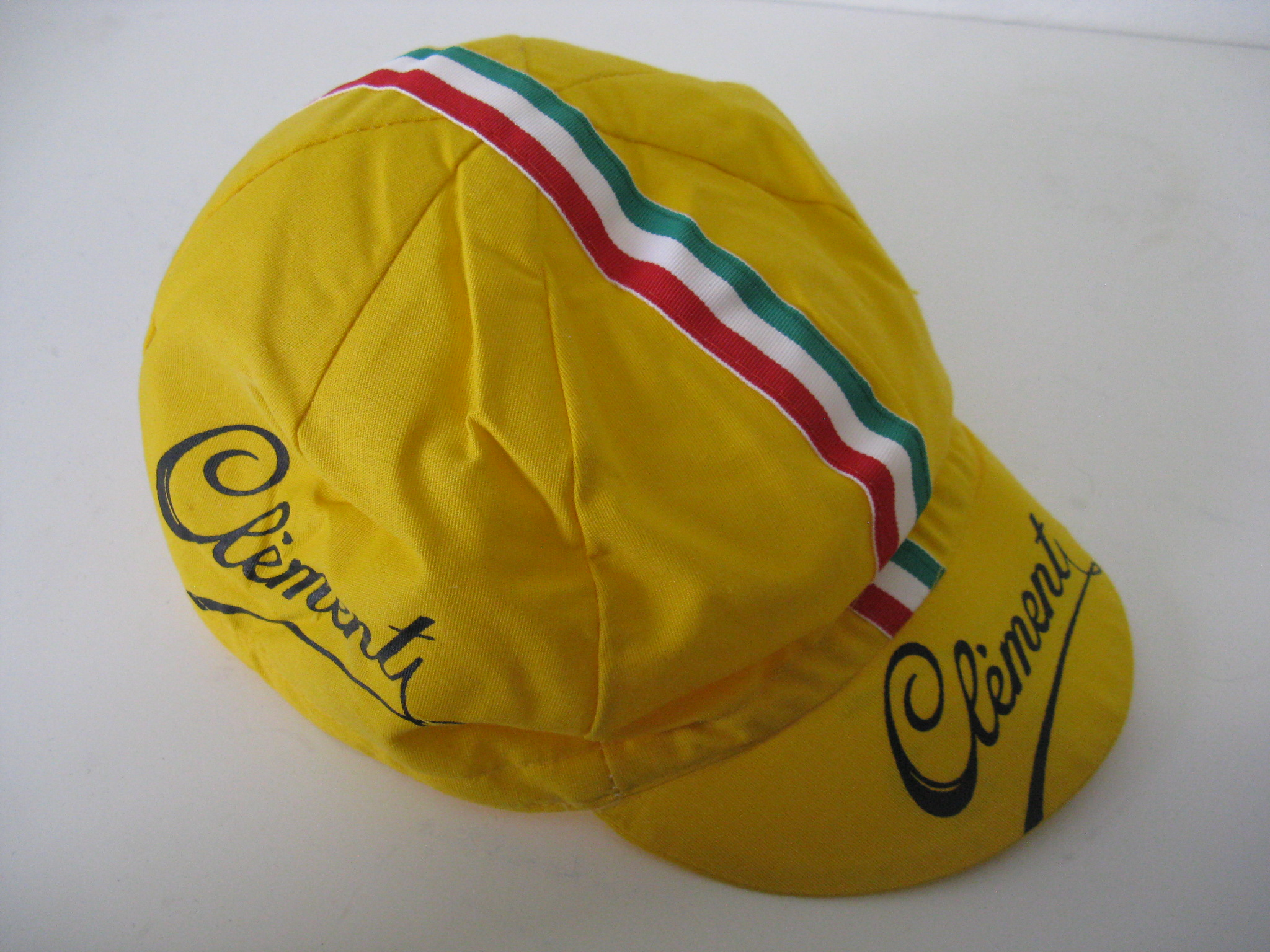 Clement Cycling Cap - made around 1980 Yellow - really nice - label has a  bonus! IN STOCK  9.  14.95. Qty  Italian Moa Vintage Cycling Shorts size ... 39ae72ad5